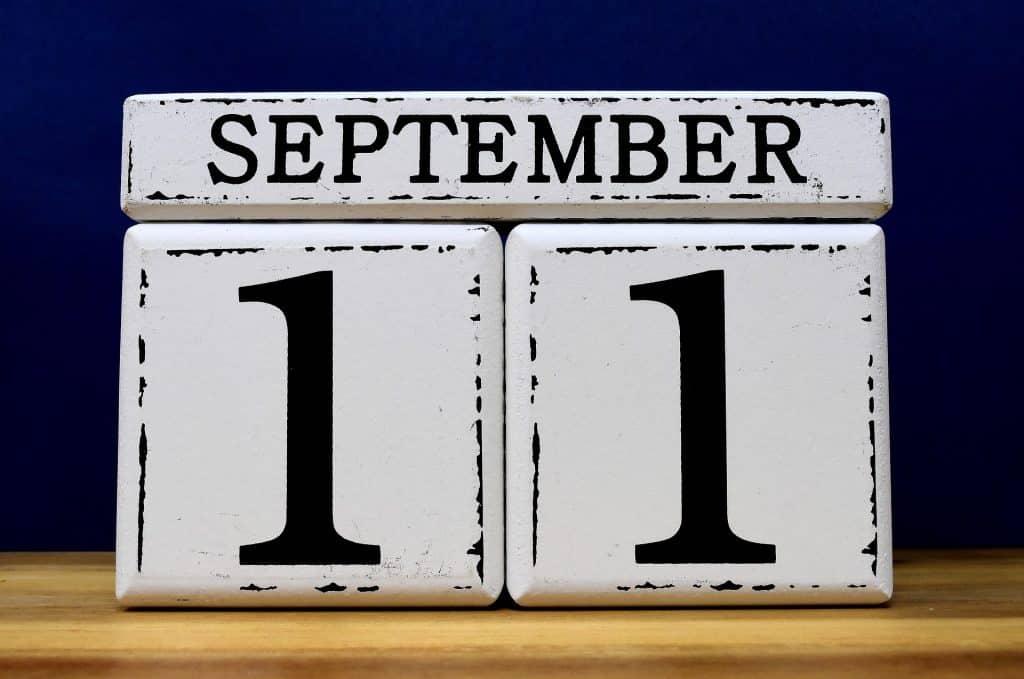 September 11 calendar
