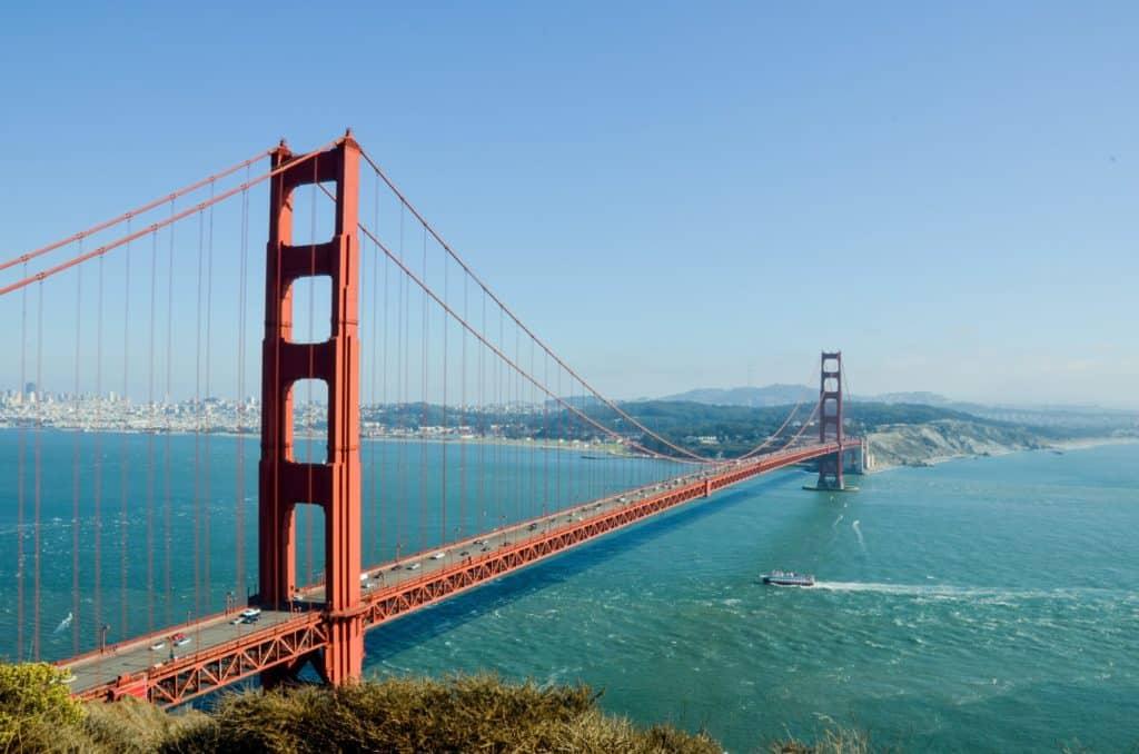 golden gate bridge, water